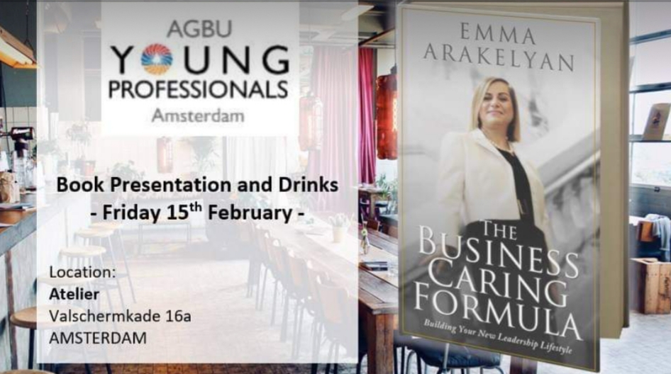 Europe Book Tour: Amsterdam Leadership Speaking Event with Young Professionals @ Atelier Schinkel