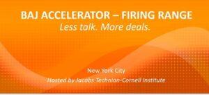 Speaker and Partner at BAJ Accelerator, New York Virtual Program on January 23-28, 2022 @ Virtual or Cornell Tech Campus